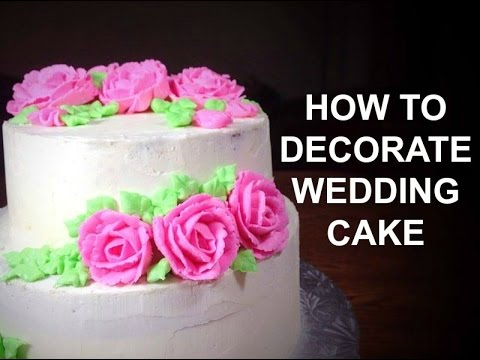 How To Make A Wedding Cake Part 2 Wedding Cake Decorating Video