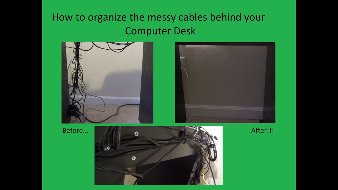 Organize your MESSY computer deck cables and wires - YouTube