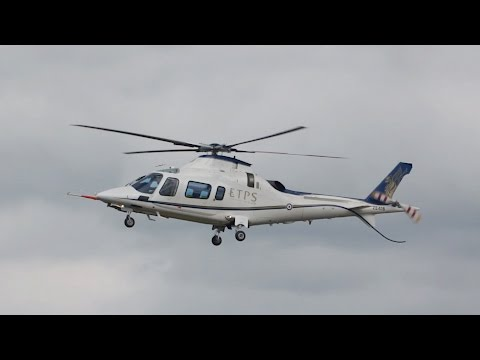 AgustaWestland AW-109E Power Elite ETPS arrival at RIAT 2016 AirShow