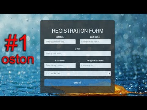 How To Create A Registration Form - HTML,CSS & BOOTSTRAP #1