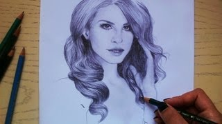 Speed Drawing: Lana Del Rey