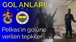 Gol Anları!   Dimitris Pelkas'ın golüne tepkiler! Trabzonspor 0-1 Fenerbahçe