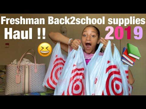 ' FRESHMAN BACK2SCHOOL SUPPLIES HAUL 2019📚😆!!