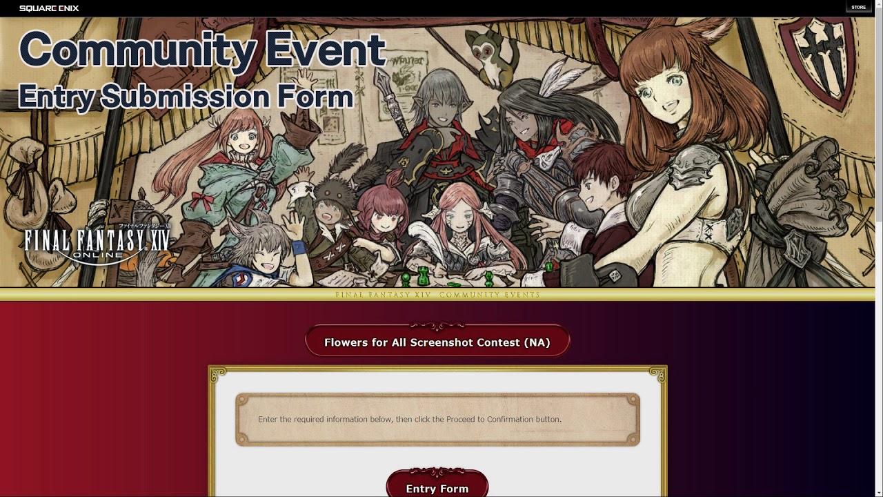 FFXIV: Flowers For All Screenshot Contest
