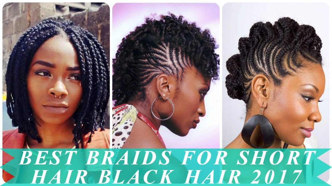 Best braids for short hair black hair 2017 - YouTube