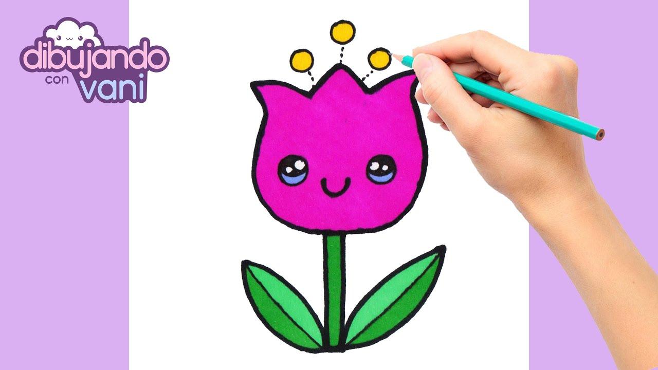 Como Dibujar Una Flor Kawaii Dibujos Faciles Dibujos Kawaii Dibujos Para Dibujar Youtube