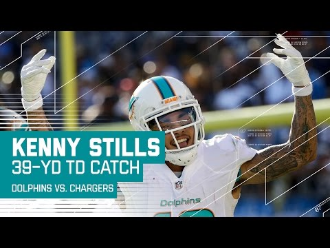Ryan Tannehill Launches 39-Yard Strike to Kenny Stills for the TD! | Dolphins vs. Chargers | NFL