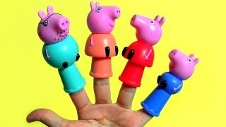 Peppa Pig Finger Puppets Mommy Daddy George Pig Kinder Surprise - Marionetas de dedo Peppa Pig