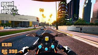 ► GTA 5 Redux KTM RC 390 - First Person Gameplay - Ultra Realistic Graphics - 60 FPS