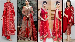 Latest & Beautiful Red Colour Party Wear Dresses/Red Colour Dresses Ideas