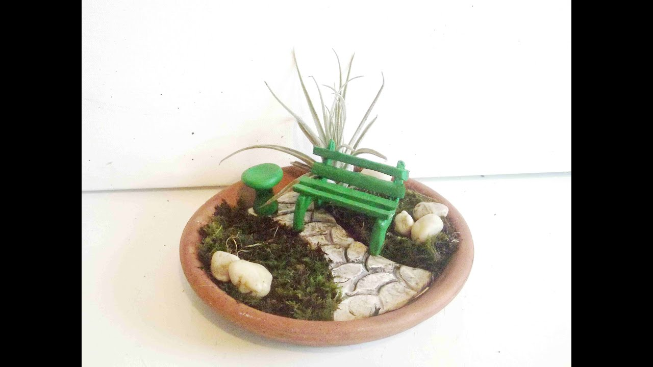 How To Make A Miniature Fairy Garden Patio With Polymer Clay
