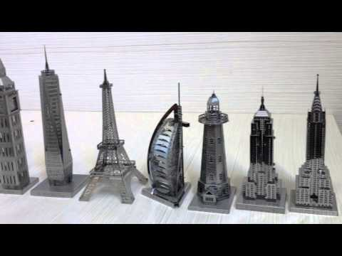 Lots of MetalWorks Metal Model Puzzle - Over View - ICONX 3D MODEL  - Metal Earth / Metal Works
