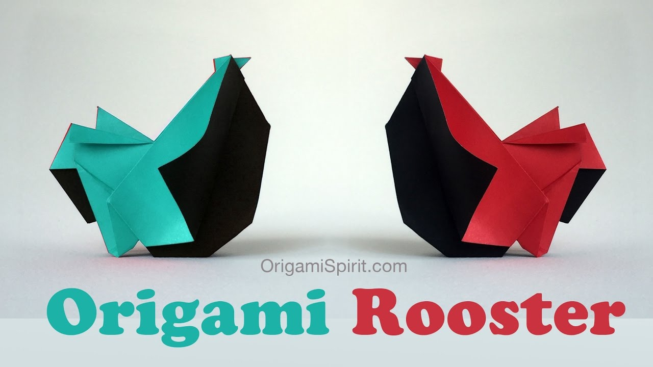 how to make an origami rooster youtube
