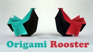 How to Make an Origami Rooster