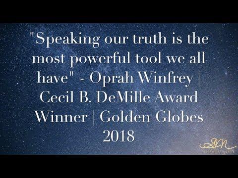 🗣Speak Your Truth🗣 | Reflecting on Oprah's Golden Globe Speech | Amina Mahogany |