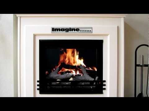 Digital Fireplace, the easiest, cheapest and most realistic 'build your own' fireplace ever.