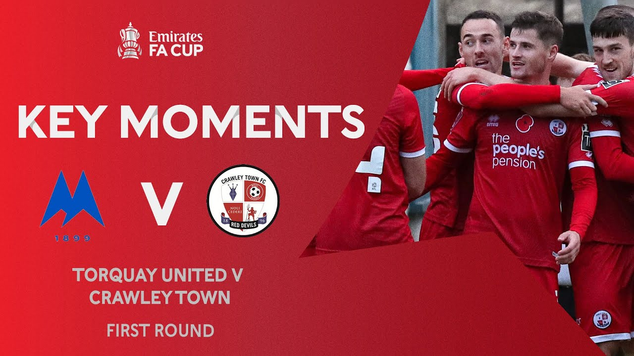 Torquay United v Crawley Town | Key Moments | First Round | Emirates FA Cup 2020-21