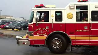 Merion Fire Company of Ardmore, PA Fire Trucks Responding
