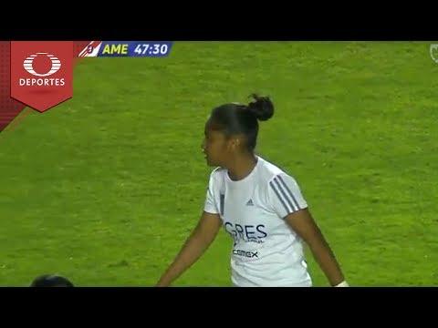 Gol de Belén Cruz | Tigres 3 - 0 América | Liga MX Femenil - Semifinal Ida | Televisa Deportes