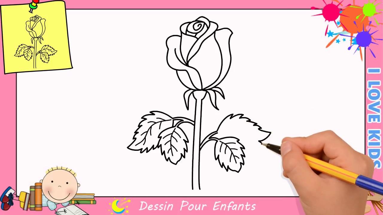 Comment dessiner une rose facilement etape par etape pour enfants 8 youtube - Rose a dessiner facilement ...
