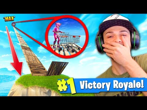 *MAX* HEIGHT Shopping Cart RAMP in Fortnite: Battle Royale!
