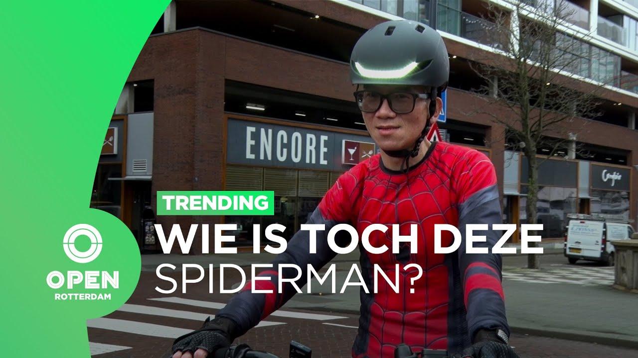 Download Wie is toch die racende Spiderman die door de Rotterdamse binnenstad crosst?   Trending