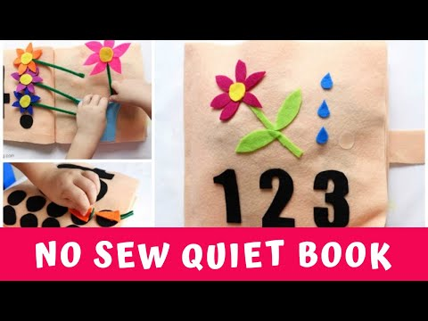 No sew counting and numbers quiet book youtube pronofoot35fo Gallery