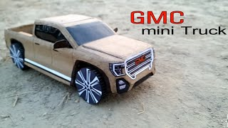 How to make a RC Car GMC Pickup Truck | DIY Cardboard Rc Car Craft