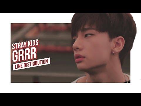 Stray Kids - Grrr 총량의 법칙 Line Distribution (Color Coded) | 스트레이 키즈