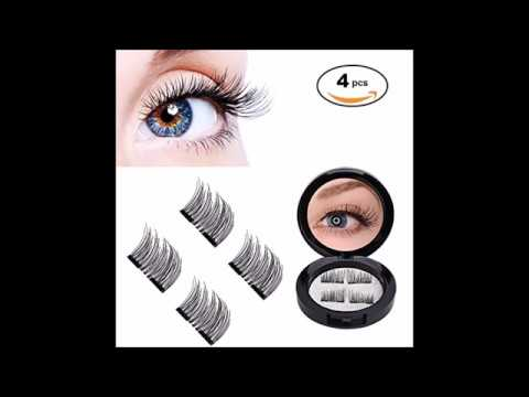 3ee93665cdc 3D Magnetic Eyelashes by WEBSUN, Reusable False Eyelashes for Natural Look  1 Pair 4 Pieces, No Glue