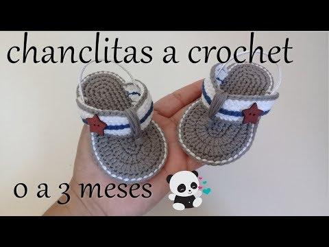 Bebe A Youtube 0 Para Meses Crochet Tejidas 3 Sandalias 4L3Ajq5R