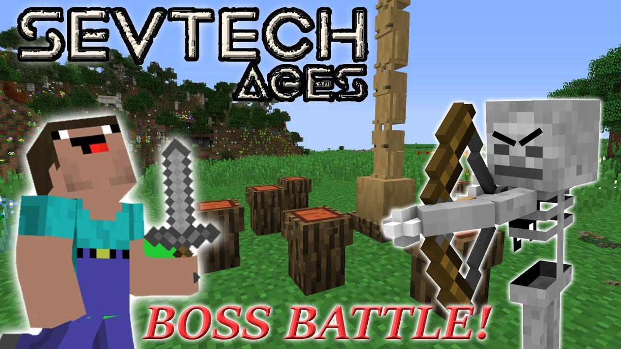 Minecraft SevTech Ages | Part 2| Summoning Baykok first Boss Battle!