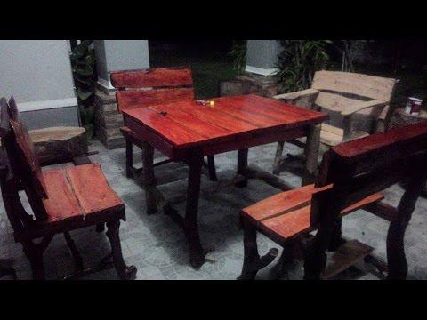 perabot kayu hanyut malaysia diy log furniture
