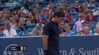 Stunning Roger Federer rocket forehand | Cincinnati 2018 Semi-Final