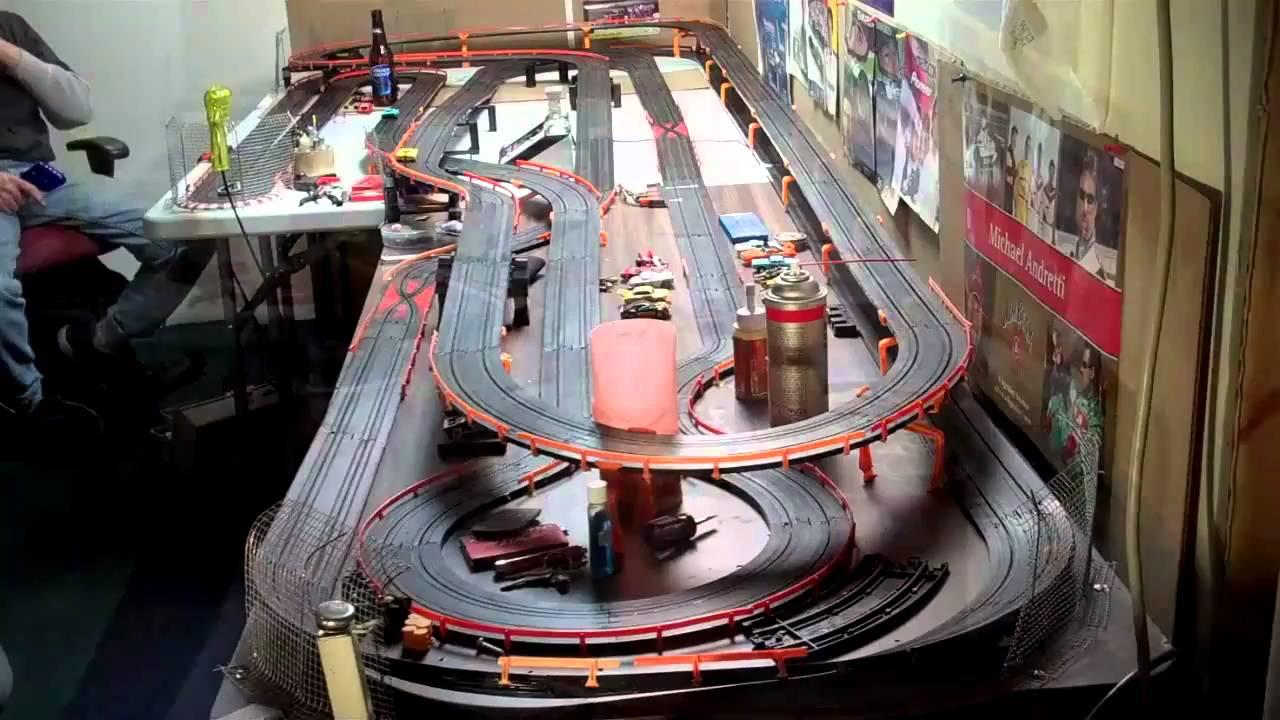 New Slot Car Track 1 64 92 Feet Long Youtube