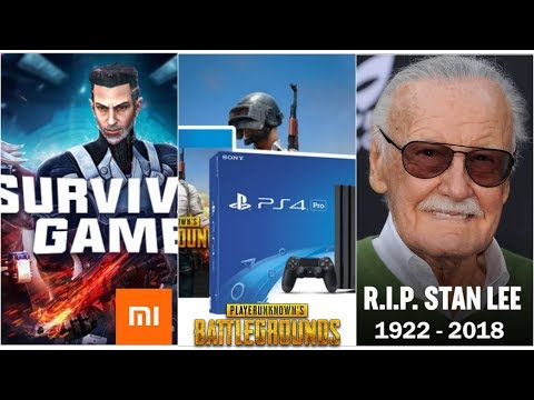 Gaming News : Pubg Now Available On Ps4   Xiaomi Survival Game Beta apk Out   Stan Lee RIP thumbnail