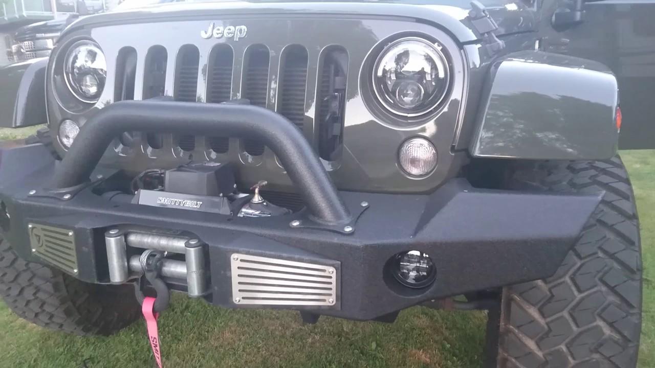 How To Install Fog Lights Jeep Wrangler Jk Jw Speaker Youtube Light Plug