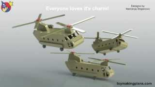 Wood Toy Plans - Chinook Helicopter Vietnam