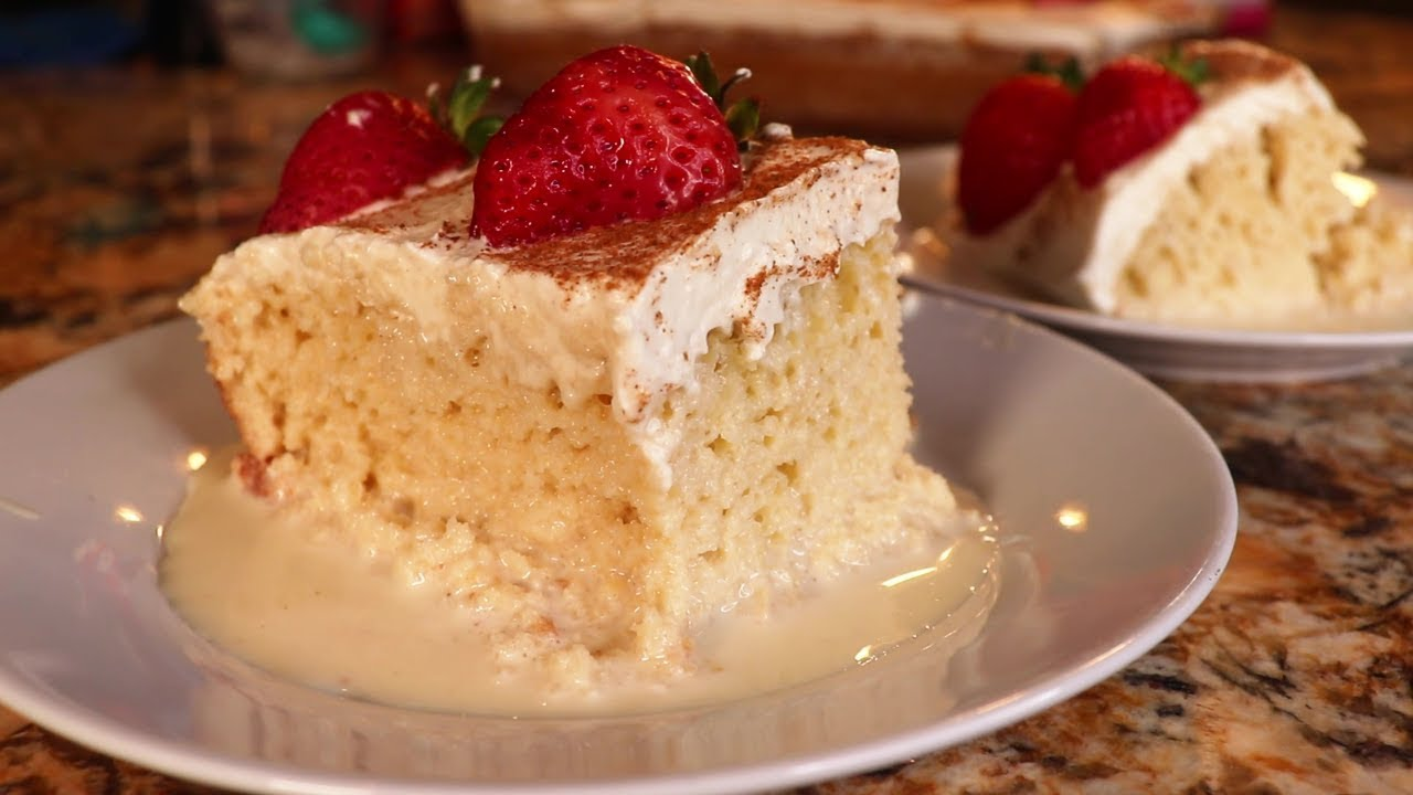 Easy and Delicious Tres Leches Cake - YouTube