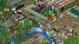 Rollercoaster Tycoon 2 - BIG Park 4 Year Timelapse (8x Speed, RCT2)