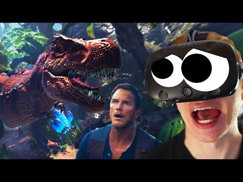 JURASSIC WORLD VR!!? (Ark Park - Ark Survival Evolved VR HTC Vive)