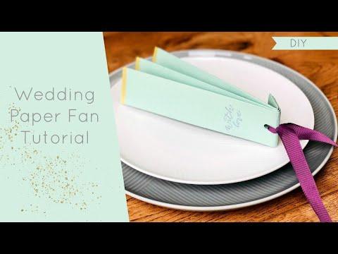 DIY Wedding Fan Tutorial