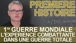 Première Guerre mondiale : expérience combattante, guerre totale - Histoire - 1ère - Les Bons Profs