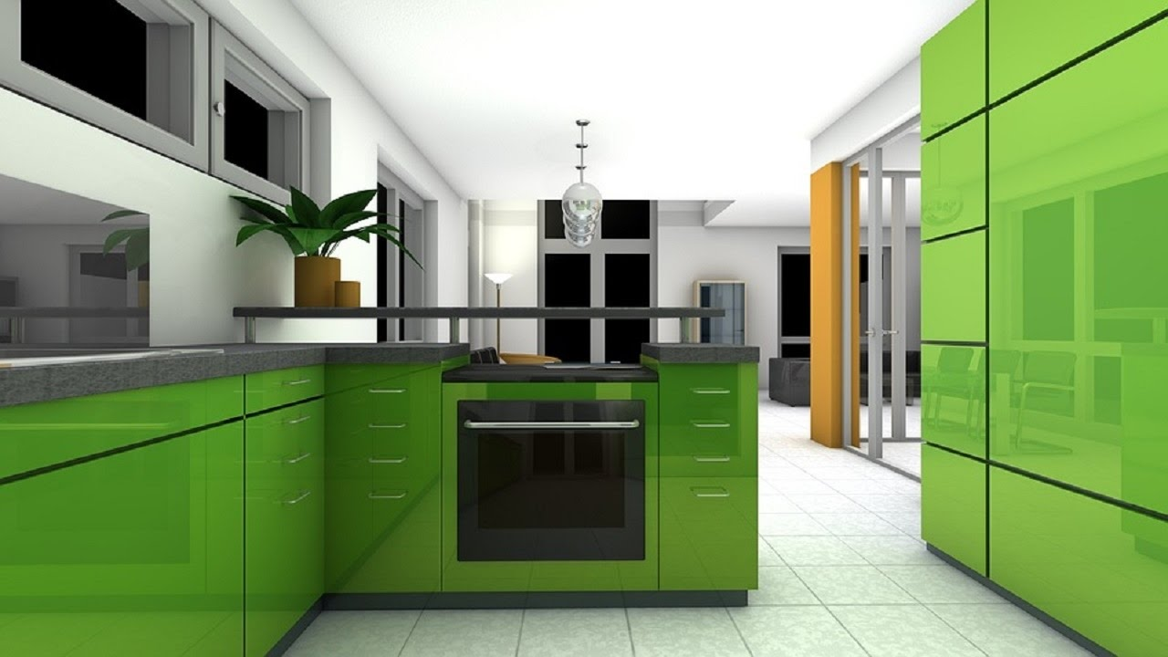 Beau Best Modern Kitchen Design Ideas   Modular Kitchen With Attached Dining  Designs   YouTube