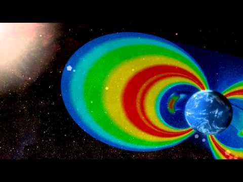 Van Allen Probes Orbit Animation w/Radiation Belts (false color)