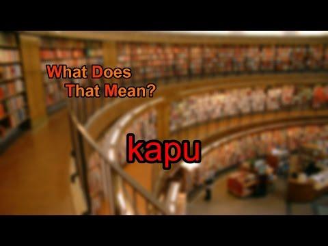 What does kapu mean?