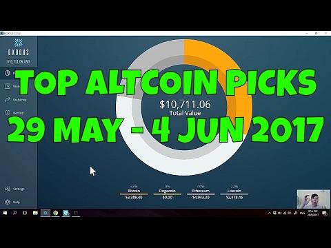 TOP ALTCOIN PICKS THIS WEEK! | 29 May - 4 JUN 2017 |