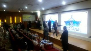 الفريق مميش يكرم المخابرات العامة والحربية بالاسماعيلية لحمايتهم قناة السويس الجديدة