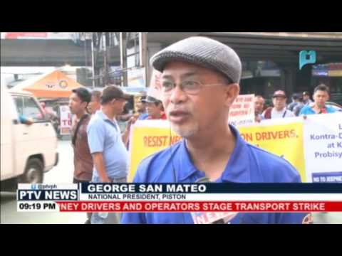 Jeepney drivers and operators stage Transport Strike