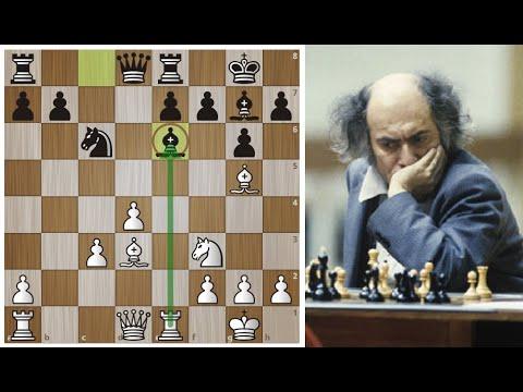 Михаил ТАЛЬ жертвует Карпову ДВЕ ЛАДЬИ и разрывает защиту Каро-Канн! Шахматы.